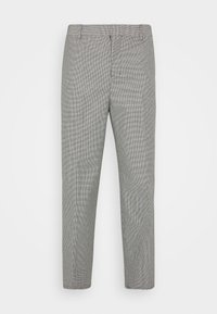 TUCKER CHECKED TROUSERS - Kalhoty - black