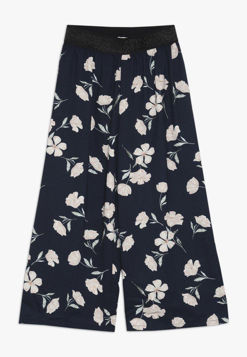 Name it - NKFLULONA 7/8 WIDE PANT - Trousers - dark sapphire