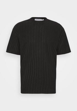 SHINY - T-shirt med print - black