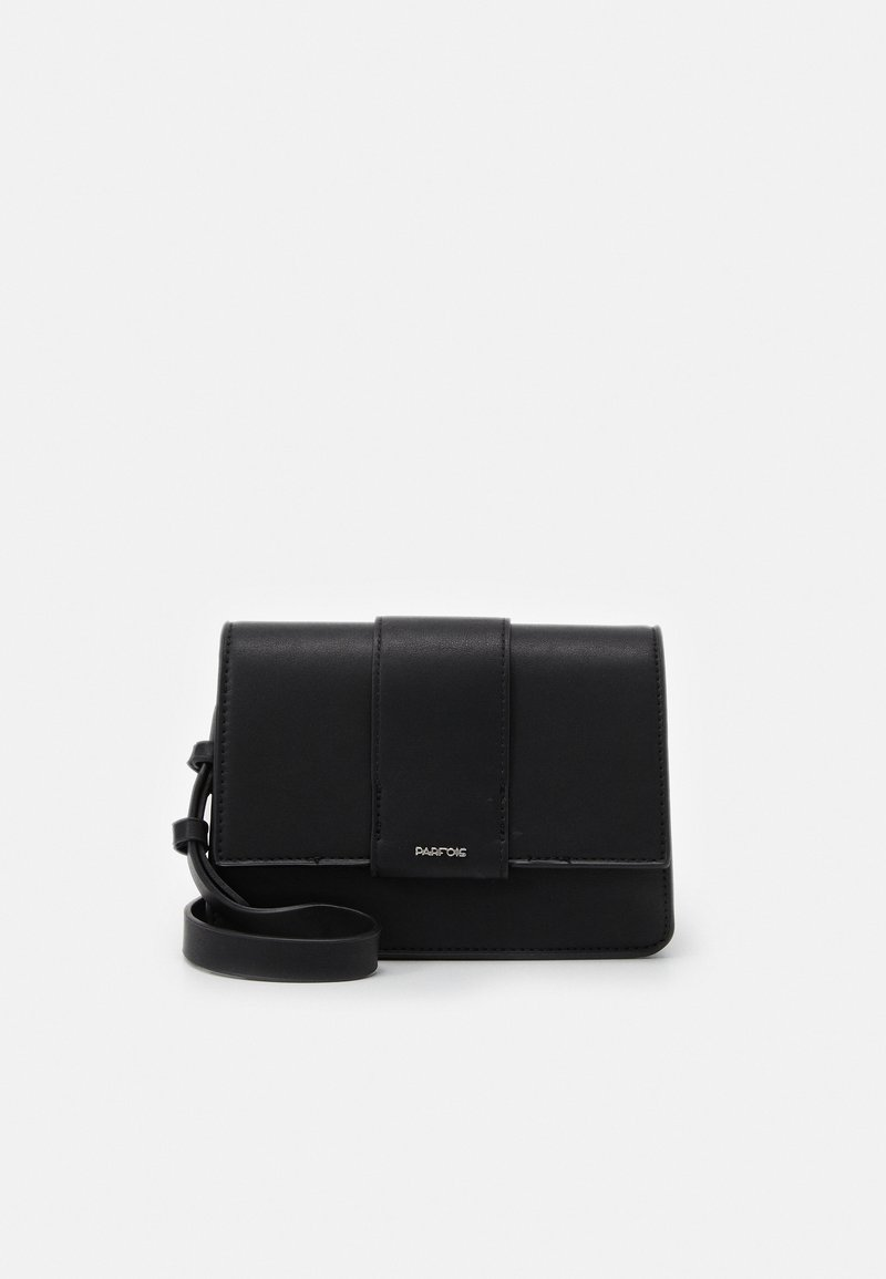 PARFOIS - CROSSBODY BAG TONGUE - Across body bag - black