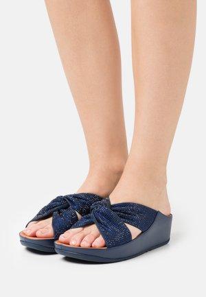 TWISS CRYSTAL SLIDE - Mules - navy blue