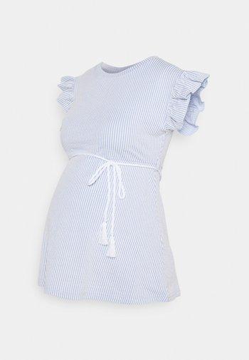 MLMAE - T-shirt z nadrukiem - spectrum blue/white