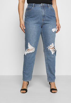 RIOT ROLL HEM KNEE RIP MOM - Relaxed fit jeans - blue