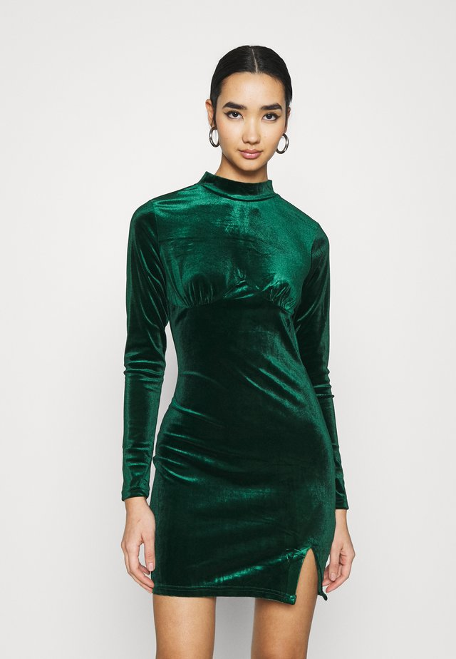 LONG SLEEVE DRESS - Robe fourreau - forest green