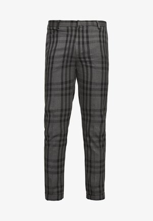 CHECK - Trousers - black