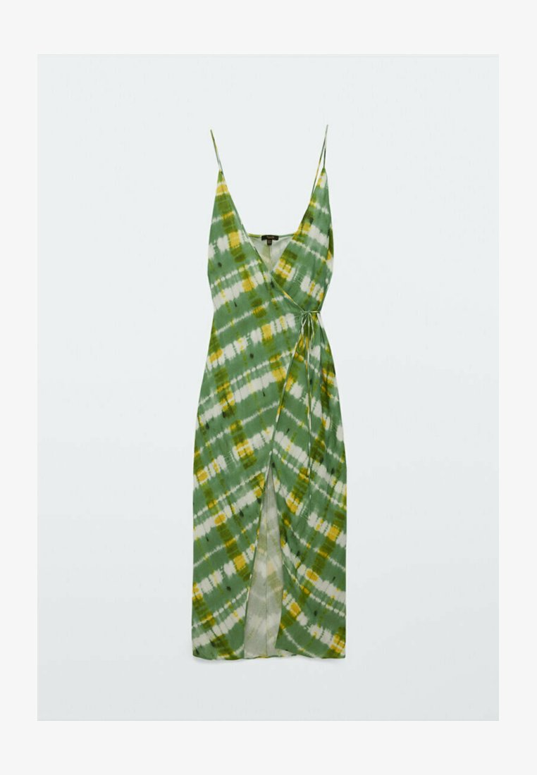 Massimo Dutti - Day dress - green/white