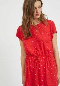 Vila - VIMOONEY STRING - Jersey dress - mars red - 3