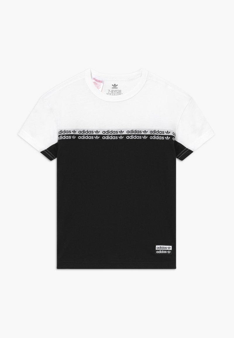 adidas Originals - T-shirt con stampa - black/white