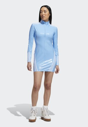 IVY PARK 1/2 ZIP LATEX DRESS - Day dress - light blue/white