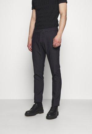 PANTALONI TESSUTO - Trousers - blu navy