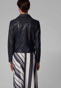 BOSS - JUANA - Leather jacket - open blue - 2