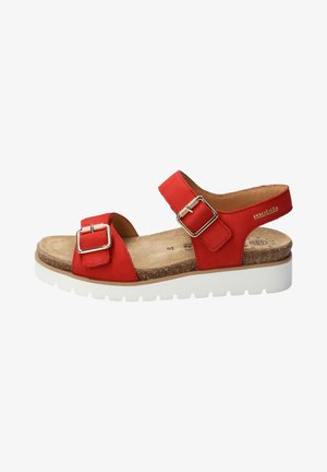 Walking sandals - scarlet
