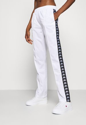 HELMA - Tracksuit bottoms - bright white