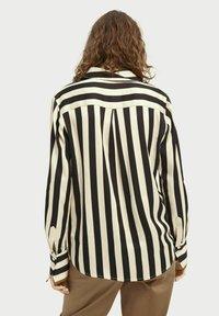 Scotch & Soda - Button-down blouse - black/off-white - 2