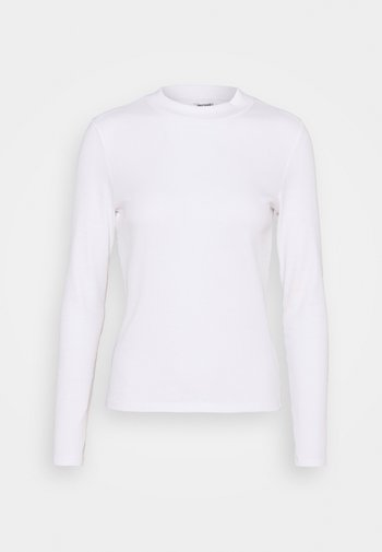 Long sleeved top - white solid