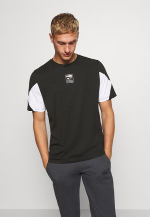 REBEL ADVANCED TEE - Print T-shirt - puma black