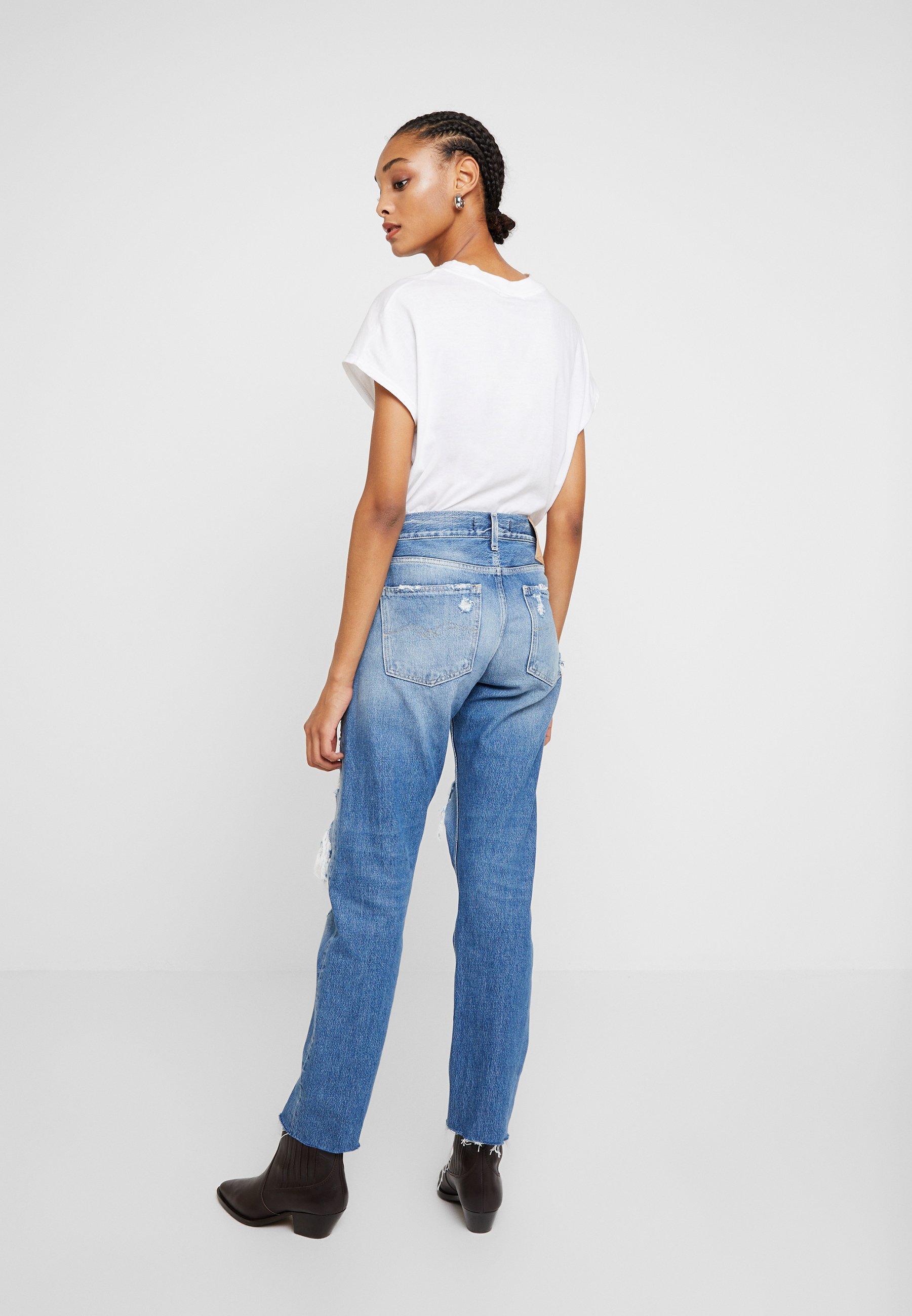 Replay JOPLYN - Jean droit - mediumblue - Jeans Femme UE57T