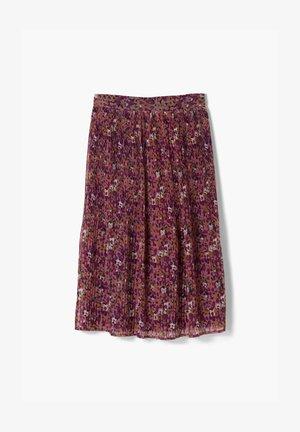 A-line skirt - pink aop