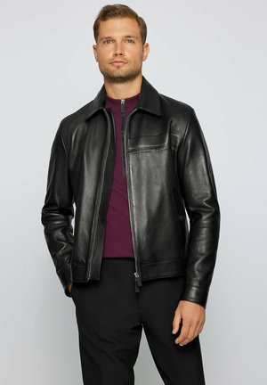 NAICAN PS - Leather jacket - black