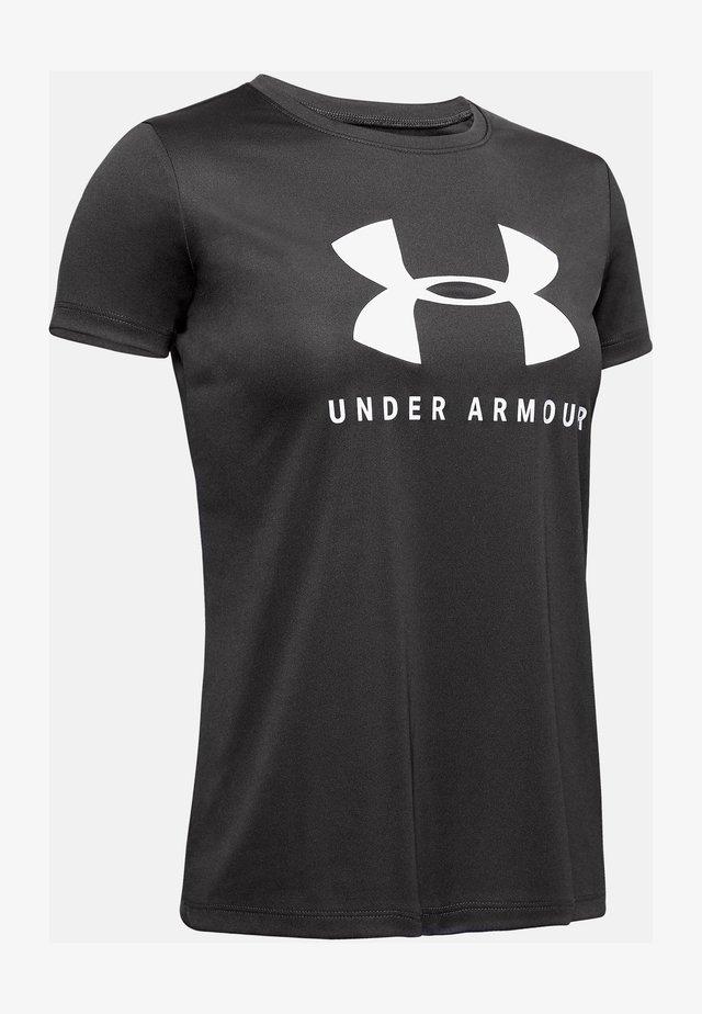 T-shirt print - jet gray