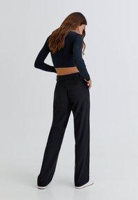 PULL&BEAR - Trousers - black - 1