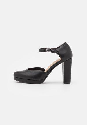 Platform heels - black matt
