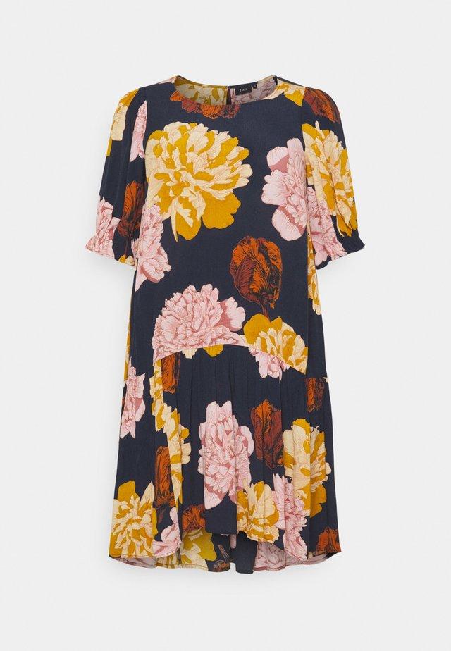 DRESS - Day dress - navy blazer flower