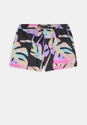 BRIGHT FLORAL - Swimming shorts - black/multi