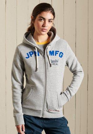 Zip-up sweatshirt - athletic grey marl