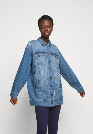 NMFIONA JACKET - Džínová bunda - light blue denim