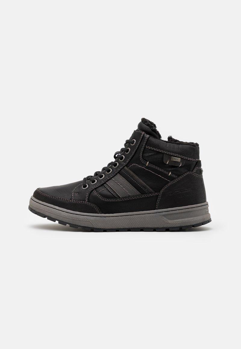 TOM TAILOR - Sneakersy wysokie - black