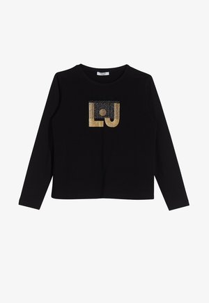 WITH PRINT - Long sleeved top - black