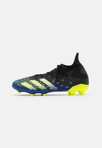 PREDATOR FREAK .3 FG - Moulded stud football boots - core black/footwear white/solar yellow