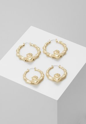 STATEMENT HEART HOOPS 2 PACK - Earrings - gold-coloured