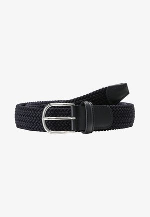 BELT UNISEX - Braided belt - navy