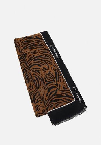 GEO LOGO SCARF - Sciarpa - black/brown
