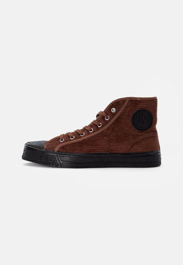 MILITARY HIGH TOP - High-top trainers - cord brown