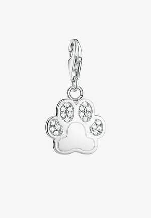 TATZE/PFOTE - Pendant - silver-colored/white