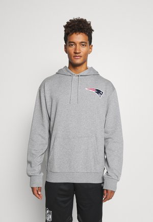 NEW ENGLAND PATRIOTS NFL DETAIL LOGO HOODY - Club wear - heather grey