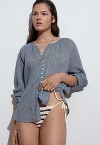 OYSHO - Button-down blouse - dark blue - 4