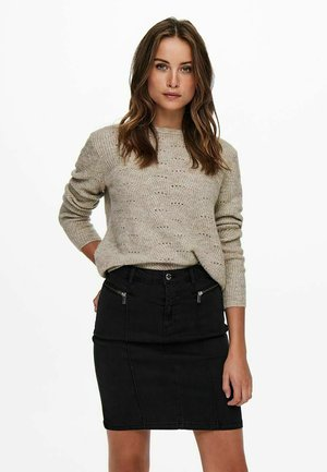 EINFARBIG - Jumper - taupe gray