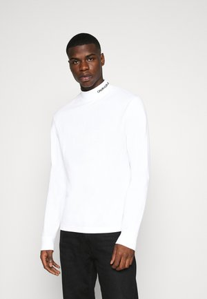 MOCK NECK TEE - Long sleeved top - bright white