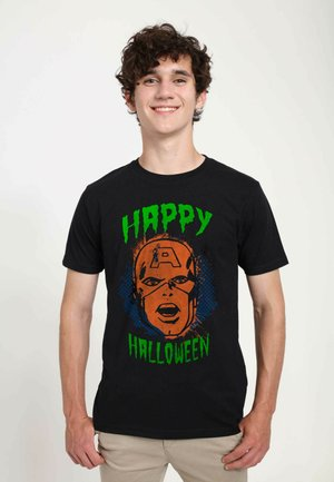 MARVEL UNISEX CAPNFACE HALLOWEEN - T-shirts print - black