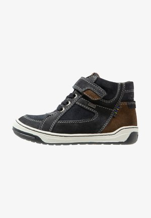 BARNEY-TEX - Sneakers hoog - atlantic/brown