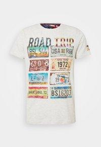 DAKOTA - T-shirt z nadrukiem - ecru marl