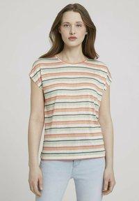 TOM TAILOR DENIM - Basic T-shirt - multicolor stripe - 0