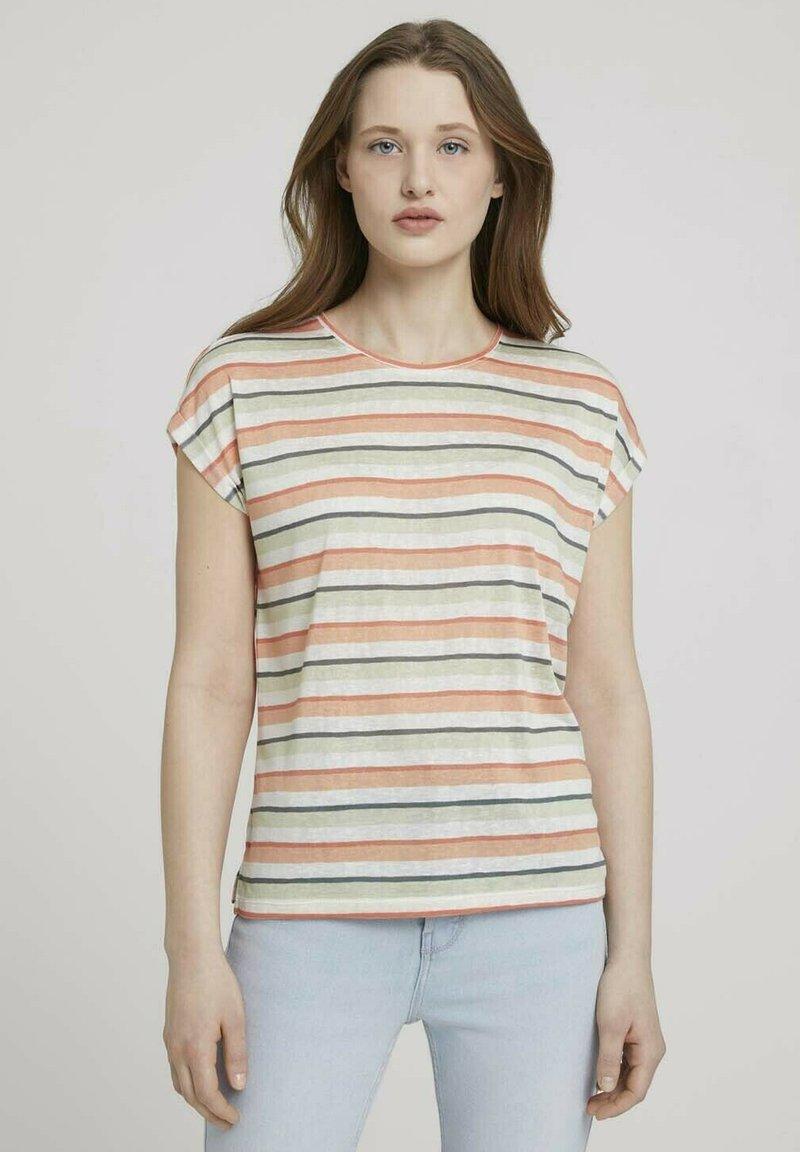 TOM TAILOR DENIM - Basic T-shirt - multicolor stripe