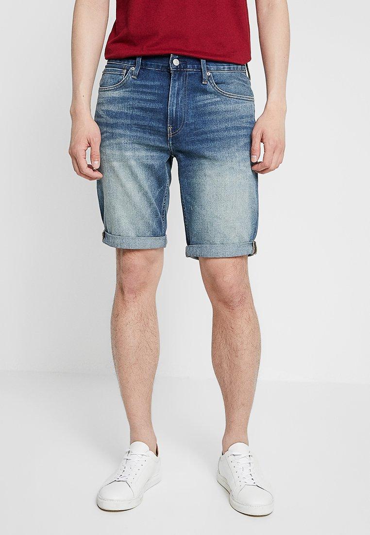 Calvin Klein Jeans - SLIM - Džínové kraťasy - denim