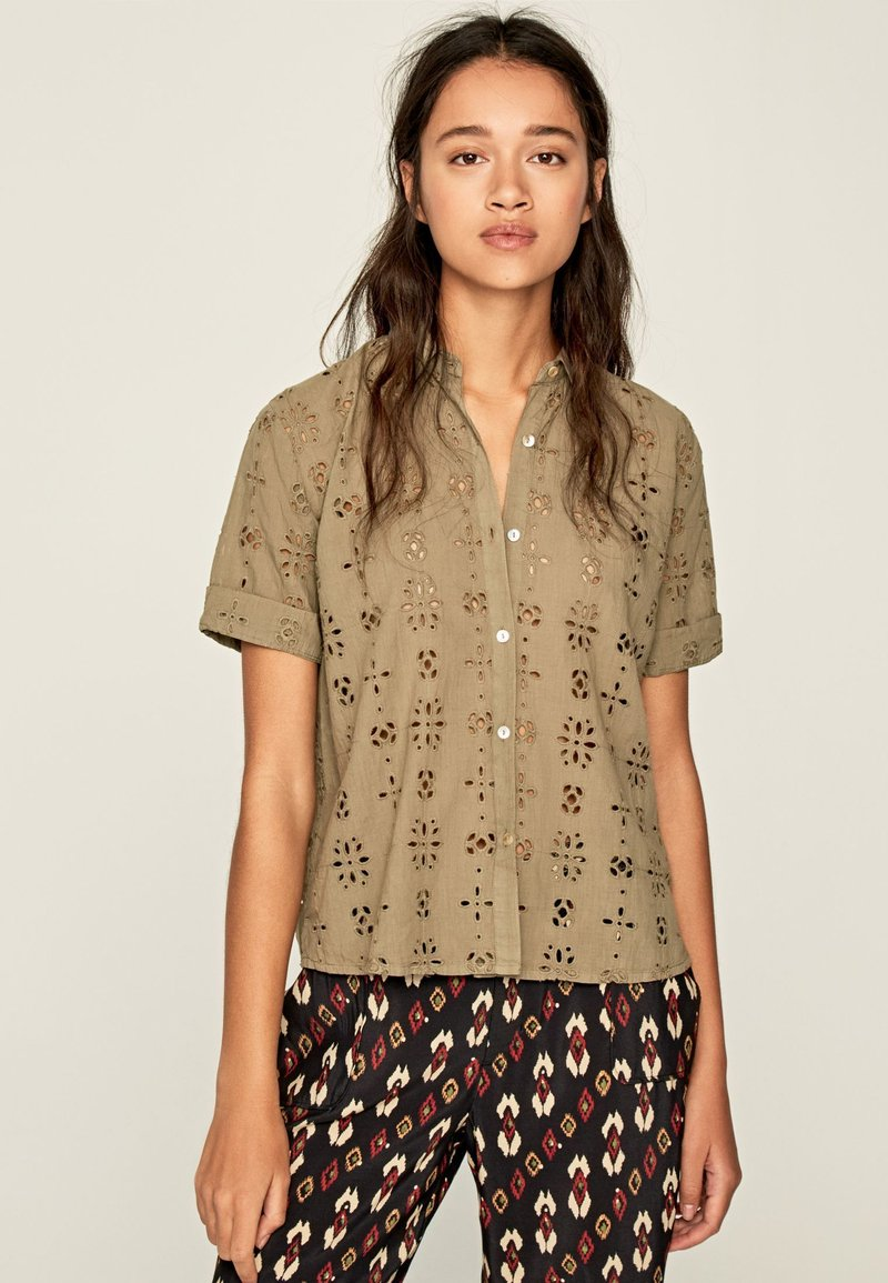 Pepe Jeans - COCO - Button-down blouse - thyme