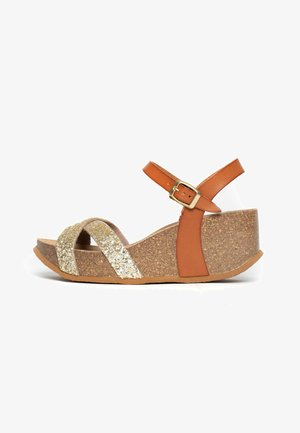 MALAGA - Sandaler m/ kilehæl - camel